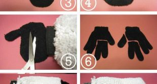 sheep plush out of mitts and gloves