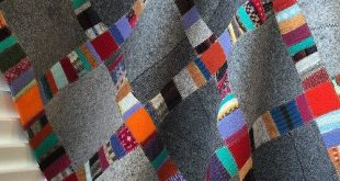 wool blanket - felt made from upcycled wool sweaters