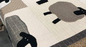 Midway Wool Patterns for Hand Applique - Counting Sheep Quilt Pattern