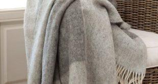 Bedspread / wool bedspread / woolen bedspread / grey bedspread / king size bedsp...