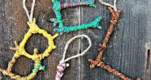 Bugs bird bark theme. Stick and wool letters