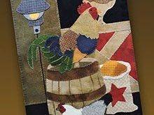 """""""Chicken Shack"""" Wool Applique Pattern. Designed & stitched by Jan Mott of Crane ..."""