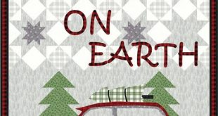 "Christmas Patterns - ""Peace On Earth"" Applique Pattern - Wool Applique Patterns - Applique Designs - CHD 1723"