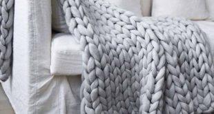 Chunky Merino Wool Blanket Heavy Wool Blankets Wool Blankets Full Wool Blanket Q...