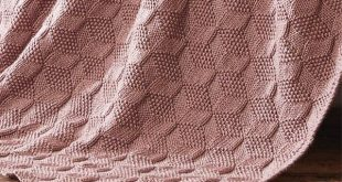 Free Knitting Pattern for Stack Up Blocks Blanket - Afghan knit in a tumbling bl...
