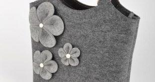 Grau #Melange #Filz #Tasche #Bianca. #Original #schön