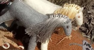 Gray horse, wool felt stuffed horse, role play Waldorf,gift for children , gift for girls, gift for boys, natural toys, collectible