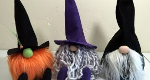 Halloween Witch and Wizard Felt Pattern