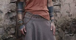 Harem Hose ~ aus Wolle mit Stammesstickerei