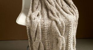 Knit Wool Chunky King Size Blanket, 49% Wool Luxurious Knit Cable Blanket Throw,...