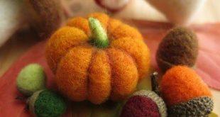 Kurs: Herbstliche Filzereien - Herbstdeko trocken filzen