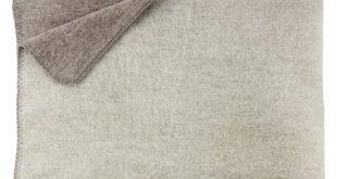 Melange Home Merino Wool Two Tone Throw Ivory / Oatmeal