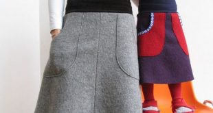 Midiröcke - Walkrock Grau + andere Farben - ein Designerstück von jumoberlin b...