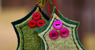 My (Faith Elliott) version of the Holly and Berries Felted Wool Ornaments. I use...