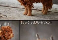 Needle Felted Scottish Highland Calf by Teresa Perleberg