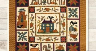 "Primitive Folk Art Wool Applique BOM Pattern: ""AUTUMN HARVEST ""- A Buttermilk Basin Design! bmb1646"