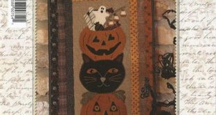 "Primitive Folk Art Wool Applique/Quilt Pattern: ""WOOLEN HALLOWEEN Stack Up"" - De..."