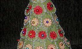 Primitive Penny Rug Christmas Tree