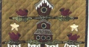 Primitive folk art, Wool applique