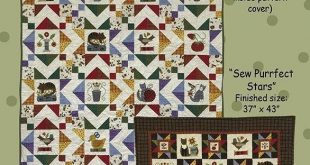 Purrfectly Sewn - All Through the Night - Folk Art - Designs - Quilt patterns, flannel or wool applique - Bonnie Sullivan