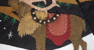 Starry Night Full Size Christmas Tree skirt KIT by cheswickcompany