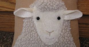 "Sweet faced woolly sheep pillow.....""Looking at Ewe"""