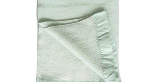 Vintage Wool Blanket by Faribault Woolen Mill Co.   Aqua Knit Throw