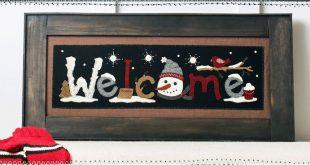 Winter Welcome Pattern - Winter Season Wool Applique Pattern- Christmas Decor - BMB 1888