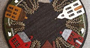 Wool Applique Pattern - Cricket Town USA - Choice of Pattern Only or Pattern with Wool Kit
