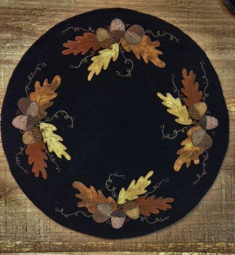 Wool Applique Pattern Signs of Autumn Choice of Pattern