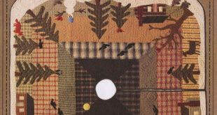 Wool Applique Pattern Woodland Tree Skirt Cabin in the Woods Primitive Decor Rus...