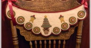 Wool Chair Swag Kit, Wool Felt Applique Candle Mat Kit, Christmas Tree Penny Rug, Wool Felt Kit, Merino Wool Felt Kit, Oh Christmas Tree