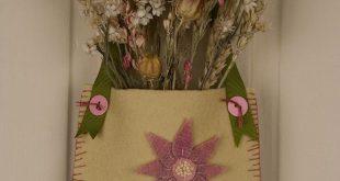 Wool Felt Applique Project Tutorial - Spring Flower Door Pocket