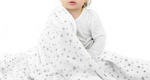Woolino Baby Blanket, 4 Season Stroller or Receiving Blanket, Merino Wool, 40 inch x 31.5 inch, Stars Size: 31.5 inch W x 40 inch Large
