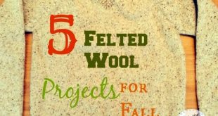 5 Felted Wool Projects for Fall