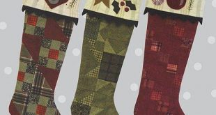 "All Through the Night by Bonnie Sullivan The Stockings Were Hung 18"" long - Pattern #906"