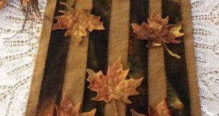 Autumn Splendor Wool Applique Table Runner