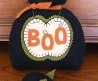 BOO Cat & Mouse Wool Applique Pin Cushion