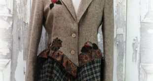 Brown Wool Bustle Jacket, Upcycled Clothing, Steampunk Jacket,Artsy Clothing, Wearable Art by CuriousOrangeCat