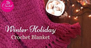 COZY Winter Holiday  Crochet Blanket New Stitch I The Crochet Shop Free tutor  2...