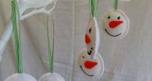Christmas Decorations Felt Snowman by MichelleGood on Etsy, £2.25 -- would be...