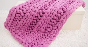 Chunky Knit Blanket,Arm knit blanket, Merino wool blanket, Giant knit Throw
