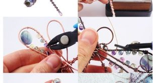 Copper Wire Tutorial, Beading Project, Dragonfly Suncatcher, Beginner Lesson, PDF Download, Wirewrap Tutorials