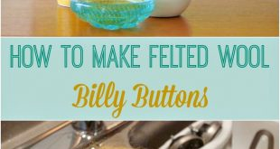 "DIY Felted Wool Ball ""Billy Buttons"""