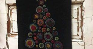 DRESDEN PLATE Wool Mat Pattern