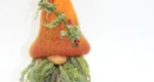 "Details about Needle Felted Wool Gnome ""Arthur"" Handmade Tomte Doll Melissa Philbrook OOAK USA"