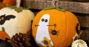 Eek! Spooks! Stuffed Pumpkins Kit - In Wool Felt