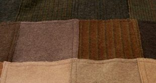 Felted Wool Patchwork Throw