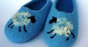 Felted wool slippers for children kids toddlers baby  by AgileWool, $30.00