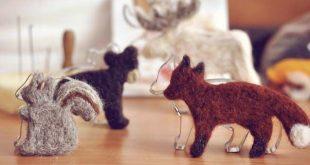 Fensterdeko im Winter, Filztiere einfach, mit Kindern Tiere filzen, Waldtiere im...